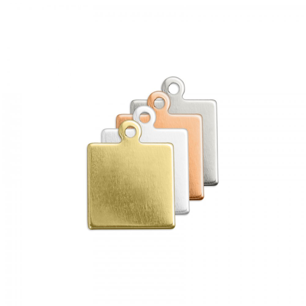 Square Jewellery Tag <br>Premium Stamping Blank<br>9.5mm