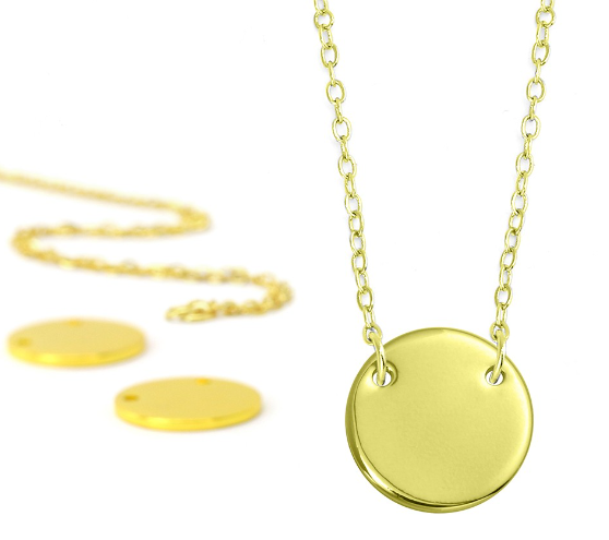 Personal Impressions<br>Large Circle - 1 Piece<br>Gold Plated