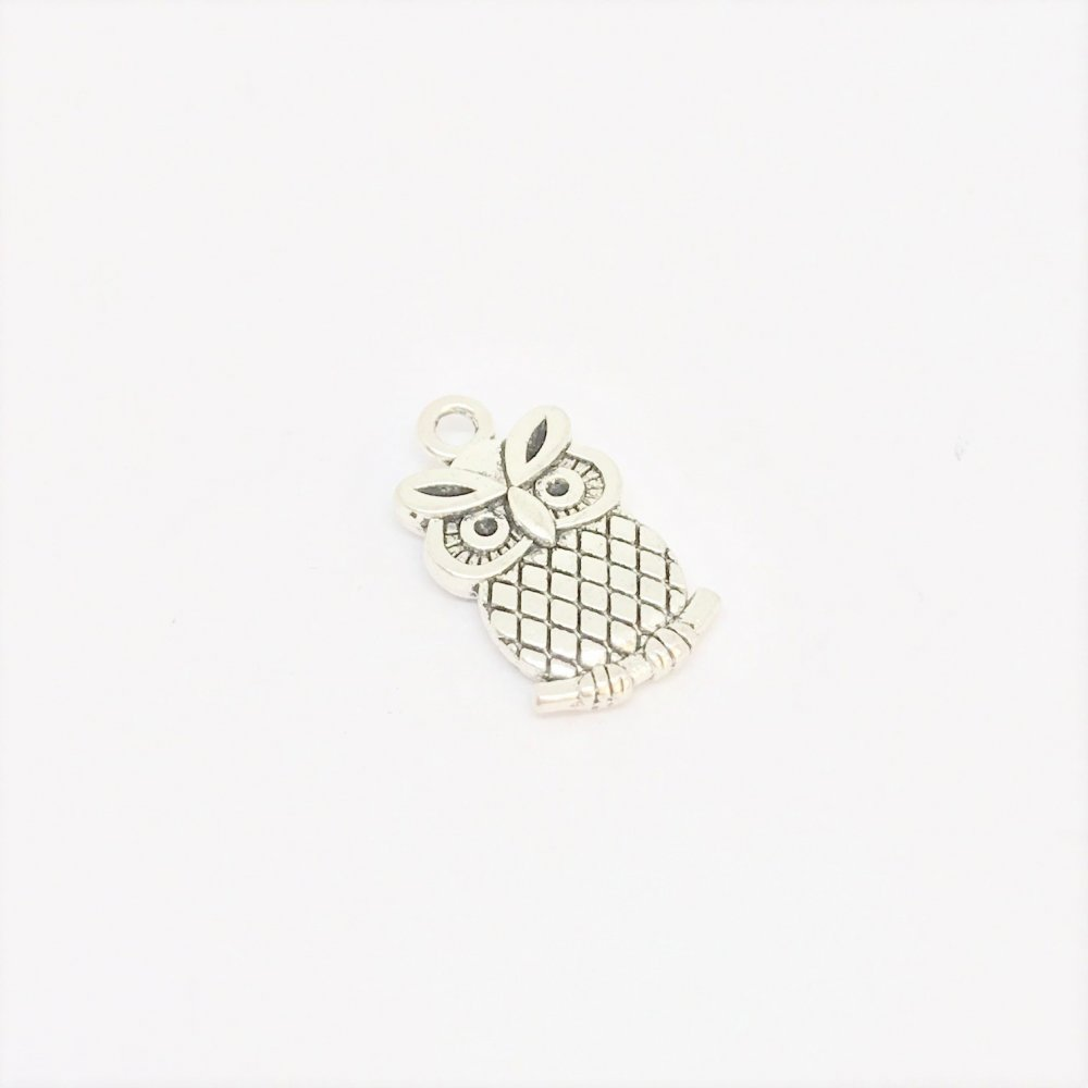 Owl Charm<br>Metal<br>10mm x 15mm