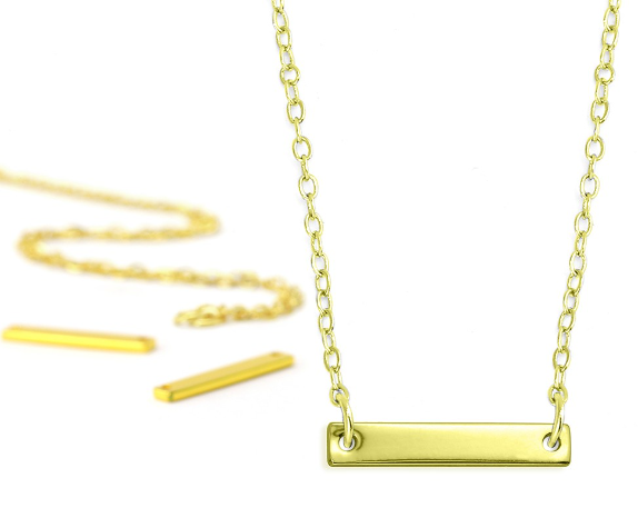 Personal Impressions<br>Small Rectangle - 1 Piece<br>Gold Plated