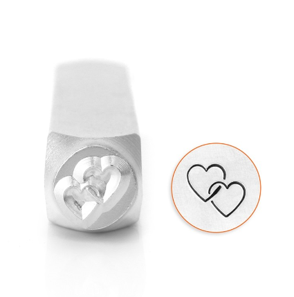 Interlocking Heart<br>Design Stamp<br>9.5mm
