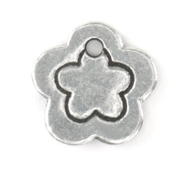 Flower Border Small<br> Pewter Stamping Blank<br>13mm x 13mm