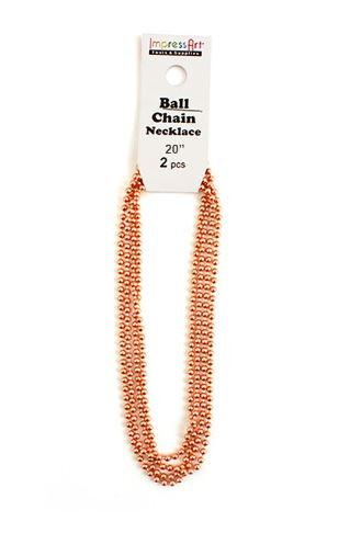 Ball Chain<br>Copper<br>2 Pack - 50cm