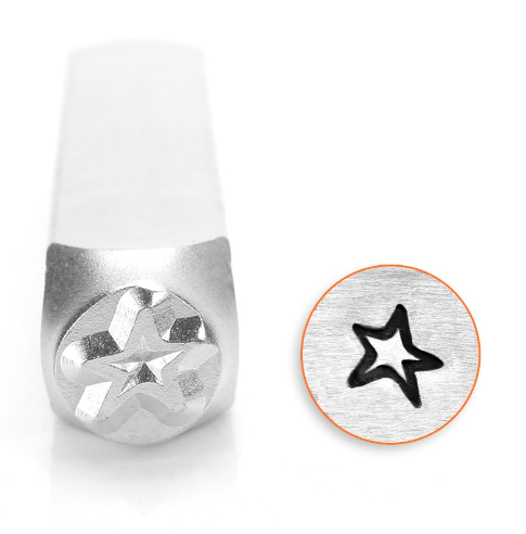 Angled Star<br>Design Stamp<br>6mm