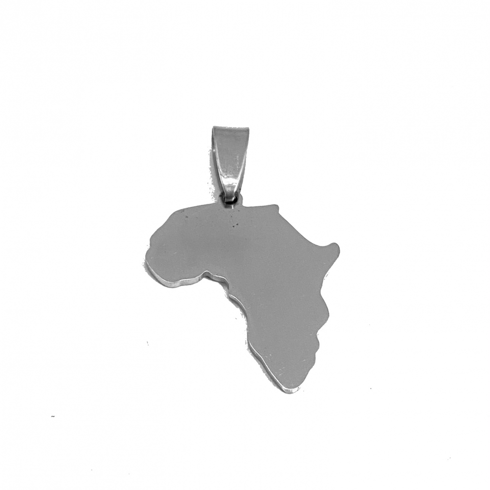 Africa on Loop<br>Stainless Steel Stamping Blank<br>22mm x 25mm