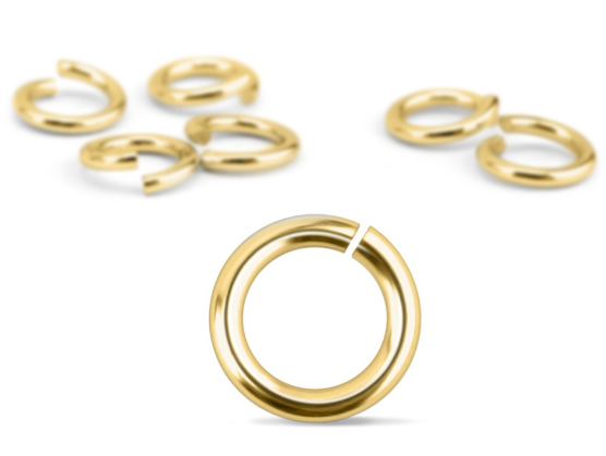 Gold Plated Jump Rings<br>20 Gauge-5mm<br>100 Pieces