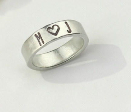 Ring<br>Pewter Stamping Blank<br>6mm, Size 8