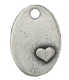 Oval with Heart<br>Pewter Stamping Blank<br>28mm x 19mm