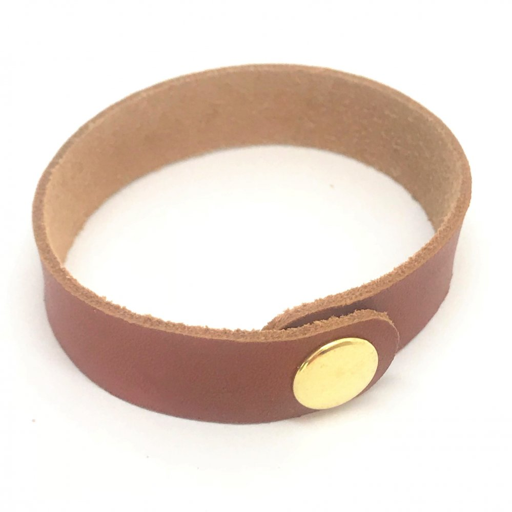 Wrist Strap<br>Terracotta Leather<br>15mm x 210mm (Small)