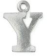 Letter Charm Y<br>Pewter Stamping Blank<br>19mm