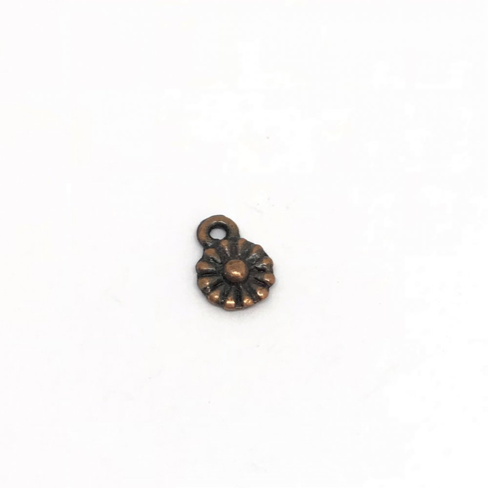 Daisy Dangle Charm<br>Copper Plated<br>6mm