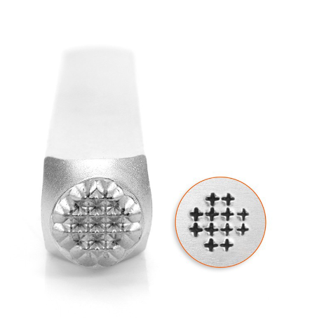 Small Cross Texture<br>Design Stamp<br>6mm