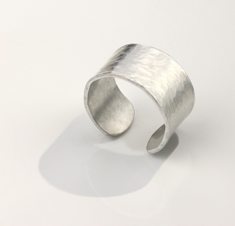 Ring, Size 4-6<br>Aluminium Stamping Blank<br>12mm x 50mm - 10 Pack