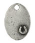 Oval with Horseshoe<br>Pewter Stamping Blank<br>28mm x 19mm